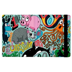 Alphabet Patterns Apple Ipad 2 Flip Case by Jojostore