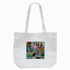 Alphabet Patterns Tote Bag (white) by Jojostore