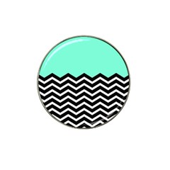 Blue Chevron Hat Clip Ball Marker (10 Pack) by Jojostore