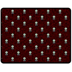 Bloody Cute Zombie Double Sided Fleece Blanket (medium)  by Jojostore