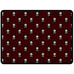 Bloody Cute Zombie Double Sided Fleece Blanket (large)  by Jojostore