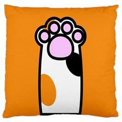 Cathand Orange Large Flano Cushion Case (one Side) by Jojostore
