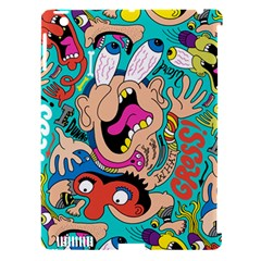 Cartoons Funny Face Patten Apple Ipad 3/4 Hardshell Case (compatible With Smart Cover) by Jojostore