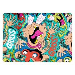 Cartoons Funny Face Patten Samsung Galaxy Tab 10 1  P7500 Flip Case by Jojostore