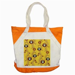 Cheery Owls Yellow Accent Tote Bag by Jojostore