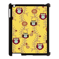 Cheery Owls Yellow Apple Ipad 3/4 Case (black) by Jojostore