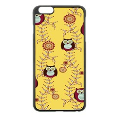 Cheery Owls Yellow Apple Iphone 6 Plus/6s Plus Black Enamel Case