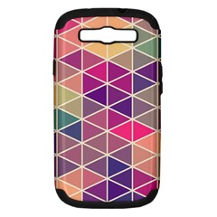 Chevron Colorful Samsung Galaxy S Iii Hardshell Case (pc+silicone)