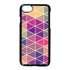 Chevron Colorful Apple Iphone 7 Seamless Case (black) by Jojostore