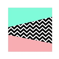 Chevron Green Black Pink Small Satin Scarf (square) by Jojostore
