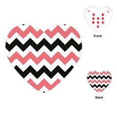 Chevron Crazy On Pinterest Blue Color Playing Cards (heart)  by Jojostore