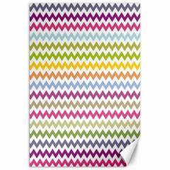 Color Full Chevron Canvas 20  X 30   by Jojostore