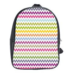 Color Full Chevron School Bags(large)  by Jojostore