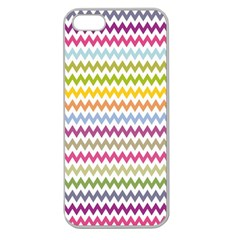 Color Full Chevron Apple Seamless Iphone 5 Case (clear) by Jojostore