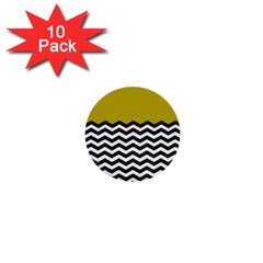 Colorblock Chevron Pattern Mustard 1  Mini Buttons (10 Pack)  by Jojostore