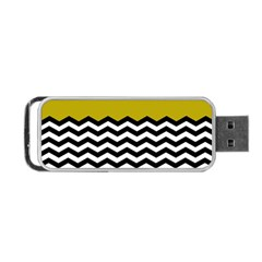 Colorblock Chevron Pattern Mustard Portable Usb Flash (one Side) by Jojostore
