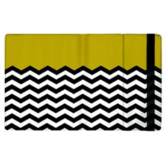 Colorblock Chevron Pattern Mustard Apple Ipad 3/4 Flip Case by Jojostore