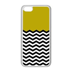 Colorblock Chevron Pattern Mustard Apple Iphone 5c Seamless Case (white) by Jojostore