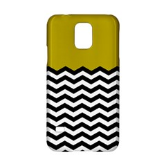 Colorblock Chevron Pattern Mustard Samsung Galaxy S5 Hardshell Case  by Jojostore