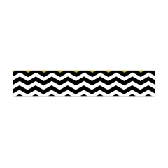 Colorblock Chevron Pattern Mustard Flano Scarf (mini) by Jojostore
