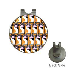 Cute Cat Hand Orange Hat Clips With Golf Markers by Jojostore