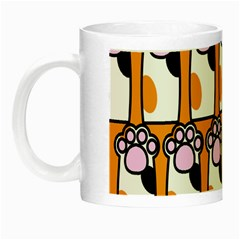 Cute Cat Hand Orange Night Luminous Mugs by Jojostore