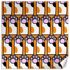 Cute Cat Hand Orange Canvas 20  X 20   by Jojostore