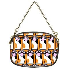 Cute Cat Hand Orange Chain Purses (one Side)  by Jojostore