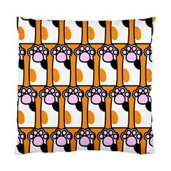 Cute Cat Hand Orange Standard Cushion Case (two Sides) by Jojostore