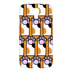 Cute Cat Hand Orange Samsung Galaxy S4 I9500/i9505 Hardshell Case by Jojostore