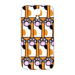 Cute Cat Hand Orange Samsung Galaxy S4 I9500/i9505  Hardshell Back Case by Jojostore