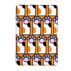 Cute Cat Hand Orange Samsung Galaxy Tab 2 (10 1 ) P5100 Hardshell Case  by Jojostore