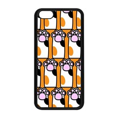 Cute Cat Hand Orange Apple Iphone 5c Seamless Case (black) by Jojostore