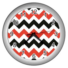 Colored Chevron Printable Wall Clocks (silver)  by Jojostore