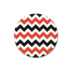 Colored Chevron Printable Magnet 3  (round) by Jojostore