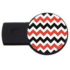 Colored Chevron Printable Usb Flash Drive Round (4 Gb)  by Jojostore