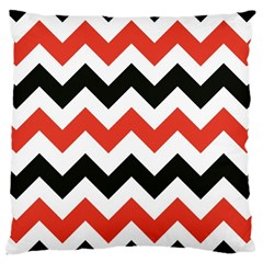 Colored Chevron Printable Large Cushion Case (two Sides) by Jojostore