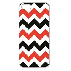 Colored Chevron Printable Apple Seamless Iphone 5 Case (clear)
