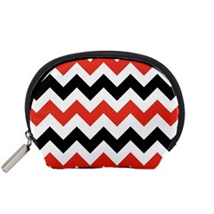 Colored Chevron Printable Accessory Pouches (small)  by Jojostore