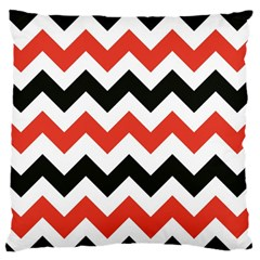 Colored Chevron Printable Standard Flano Cushion Case (one Side) by Jojostore