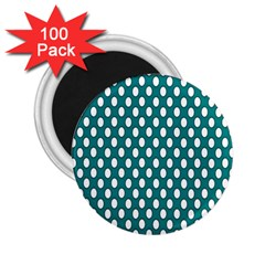 Circular Pattern Blue White 2 25  Magnets (100 Pack)  by Jojostore