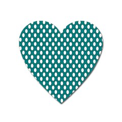Circular Pattern Blue White Heart Magnet by Jojostore