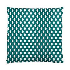 Circular Pattern Blue White Standard Cushion Case (two Sides) by Jojostore