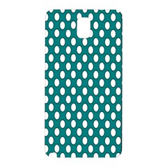 Circular Pattern Blue White Samsung Galaxy Note 3 N9005 Hardshell Back Case by Jojostore