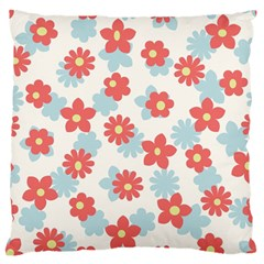 Flower Pink Standard Flano Cushion Case (one Side)