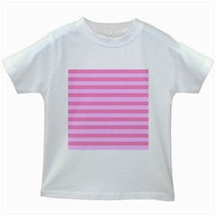 Fabric Baby Pink Shades Pale Kids White T Shirts by Jojostore
