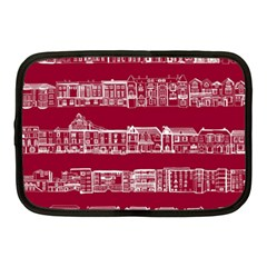 City Building Red Netbook Case (medium)  by Jojostore