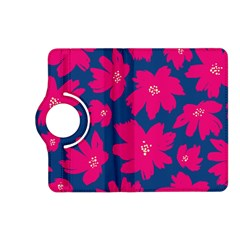 Flower Red Blue Kindle Fire Hd (2013) Flip 360 Case by Jojostore