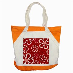 Flower Red Cute Accent Tote Bag by Jojostore