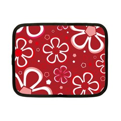 Flower Red Cute Netbook Case (small)  by Jojostore